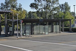 Lynnwood Transit Center - A typical bus bay at Lynnwood Transit Center