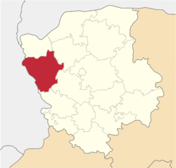 Location of Ļubomļas rajons
