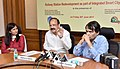 M. Venkaiah Naidu addressing at the signing ceremony of the MoUs between SDMC and NBCC for construction of administration building for SDMC and Rail Land Development Authority and NBCC for development of railway stations.jpg