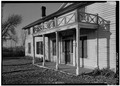 MAIN ELEVATION, DETAIL OF ENTRANCE PORCH - Grant-Kohrs Ranch, Ranch House, Highway 10, Deer Lodge, Powell County, MT HABS MONT,39-DELO,1-A-6.tif