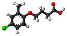 Ball-and-stick model of the MCPB molecule