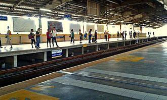 Araneta Center–Cubao MRT station - Southbound Platform of Araneta Center–Cubao Station