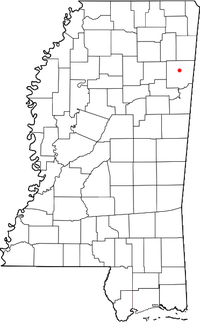 Location of Becker, Mississippi