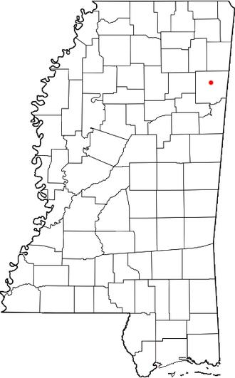 Becker, Mississippi - Location of Becker, Mississippi