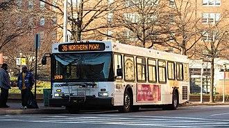 Route 36 (MTA Maryland) - Image: MTA Maryland 5001 36