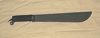 Improvised weapon - Modern factory-made machete, US Forces issue