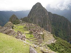 The archaeological site ماچو پیچو in the Machupicchu District