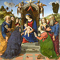 Madonna and Child Enthroned with Saints Piero di Cosimo.jpg