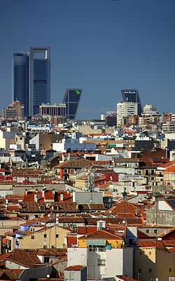 Madrid. Roofs. Spain