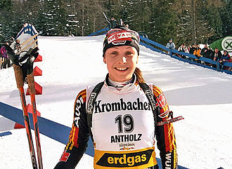 Magdalena Neuner - Neuner at the World Cup in Antholz, January 2006