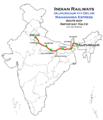 Mahananda Express (Alipurdaur - Delhi) route map.png