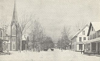 Canaan, New Hampshire - Image: Main Street in Winter, Canaan, NH