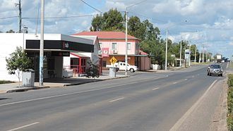 Gregory Highway - Gregory Highway passes through Capella, 2016