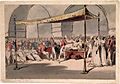 Major-General the Hon. Arthur Wellesley being received in durbar at the Chepauk Palace Madras by Azim al-Daula Nawab of the Carnatic 18th February 1805.jpg