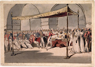 Arthur Wellesley, 1st Duke of Wellington - Major-General Wellesley meeting with Nawab Azim-ud-Daula, 1805