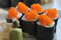Makizushi (rolled sushi).
