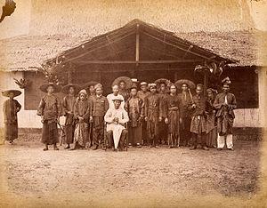 Hai San Secret Society - The Captain China and his fighting men at Klang, June 1874.