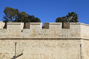 Embrasure - Embrasures at Mdina, Malta