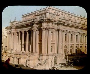Royal Opera House, Valletta - Royal Opera House in 1896