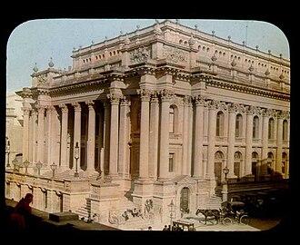 Royal Opera House, Valletta - Royal Opera House in 1896