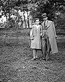 Man and woman, double portrait, man, lady, hat, glasses, coat Fortepan 7970.jpg