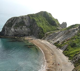 Beach - Image: Man o'war cove near lulworth dorset arp