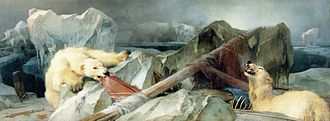 HMS Terror (1813) - Edwin Henry Landseer's Man Proposes, God Disposes (1864) was inspired by the fate of Terror and Erebus on the Franklin expedition.