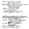 Manuscript of Ære det evige foraar i livet by Bjørnson.png