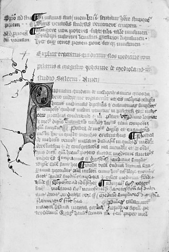 Adelle of the Saracens - This displays an old manuscript that came from Salerno's Medical School. Its language choice illustrates how culturally diverse Salerno is.