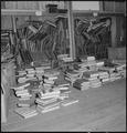 Manzanar Relocation Center, Manzanar, California. A barrack building has been turned into a library . . . - NARA - 538177.tif