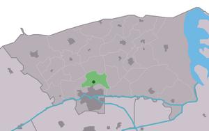 Aalsum, Friesland - Image: Map NL Dongeradiel Ealsum