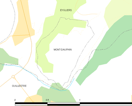 Mapa obce Mont-Dauphin