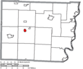 Map of Belmont County Ohio Highlighting Bethesda Village.png