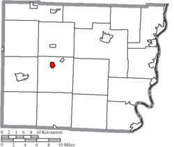 Location of Bethesda in Belmont County