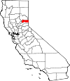 State map highlighting Sierra County