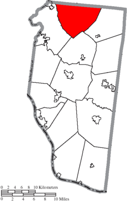 Location of Goshen Township in Clermont County
