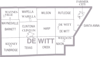 DeWitt County, Illinois - Map of DeWitt County Illinois