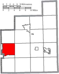 Location of Russell Township in Geauga County