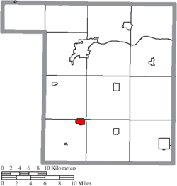Location of Holgate in Henry County