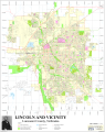 Map of Lincoln, Nebraska streets and features.png