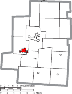 Location of Cardington in Morrow County