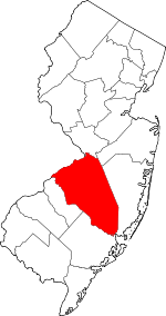Map of New Jersey highlighting Burlington County.svg