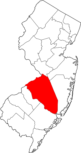 Koort vun Burlington County