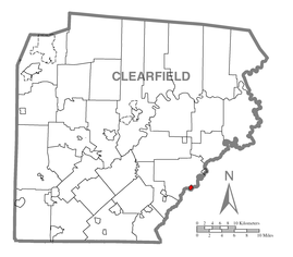 Map of Osceola Mills, Clearfield County, Pennsylvania Highlighted.png