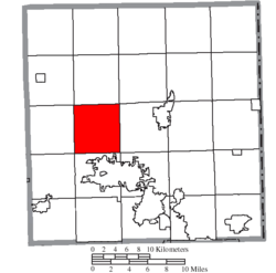 Location of Champion Township in Trumbull County