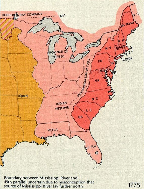 Map of territorial growth 1775