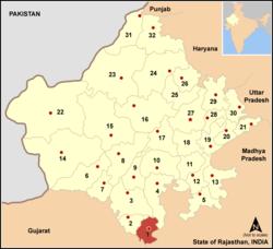 Vị trí của Huyện Banswara