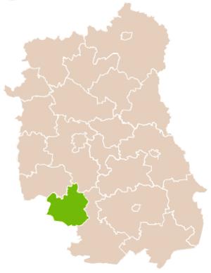 Janów Lubelski County - Image: Mapa Pow Janowski