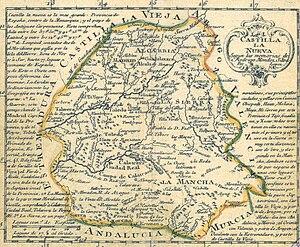 New Castile (Spain) - New Castile in 1785.