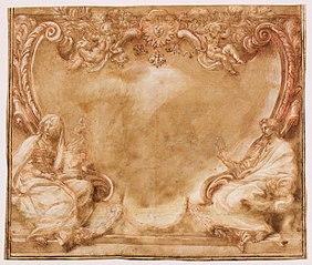 Kartusz z herbem Barberinich